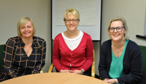 Wessex Fire and Security has appointed Lisa Merefield (left) and Dee Marsh (right) has customer service advisers. Jess Lutwyche (centre) is Service Manager.