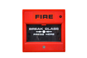 Switch fire alarm on a white background.