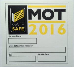 MOT Sticker 2016